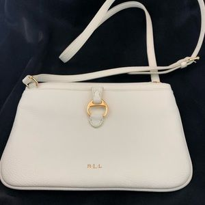 LAUREN RALPH LAUREN Creme Crossbody Shoulder Purse